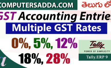 GST Accounting Entries in Tally – Part-3 -Multiple GST Rates