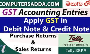 Apply GST in Debit Note & Credit Note (GST Returns)