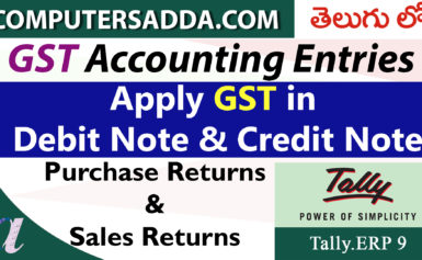 Apply GST in Debit Note & Credit Note (GST Returns)