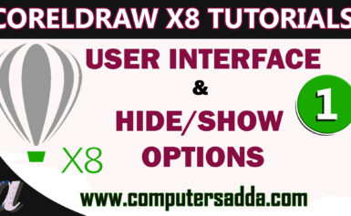 CorelDRAW User interface , Hide/Show Option's