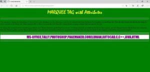 Html Telugu Tutorials || Part-8 || Marquee Tag with Attributes