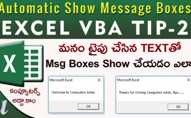 How to Show Message Boxes (Open/close) Excel VBA Tip-2